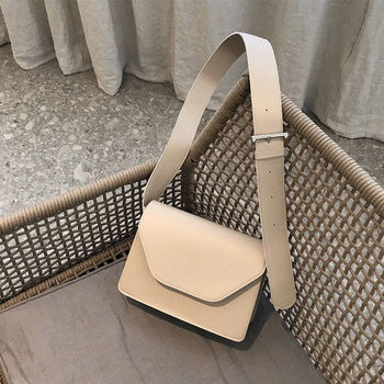 2020 new fashion trend women's solid color versatile shoulder bag