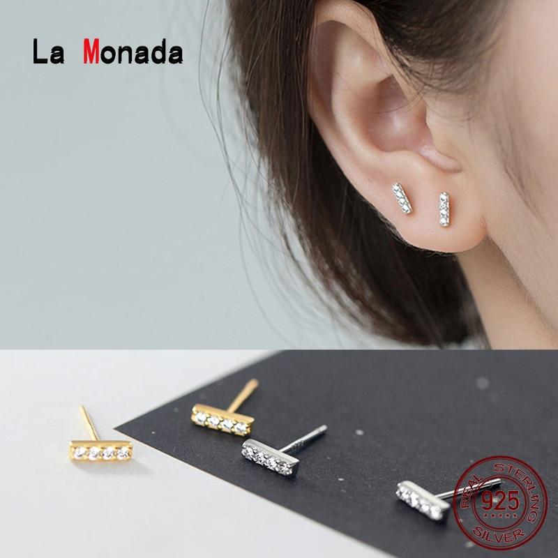 La Monada Stud Earrings For Women Silver 925 Minimalist Fine Women Earrings Jewelry Stud Earrings 925 Sterling Silver Stick