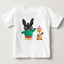 Kid's Cartoon Rabbit/Bunny DIY Name Print Funny T-shirts Boy and Girl Cartoon T Shirts 2020 Summer O Neck Round Neck Tops navy basic knit round neck t shirts