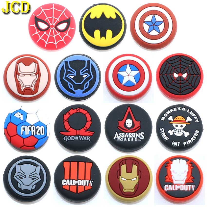 JCD 1PCS Silicone Analog Thumb Stick Grips Cover For PS4 Pro Slim For PS3 Controller Thumbstick Caps For Xbox 360 One Switch Pro