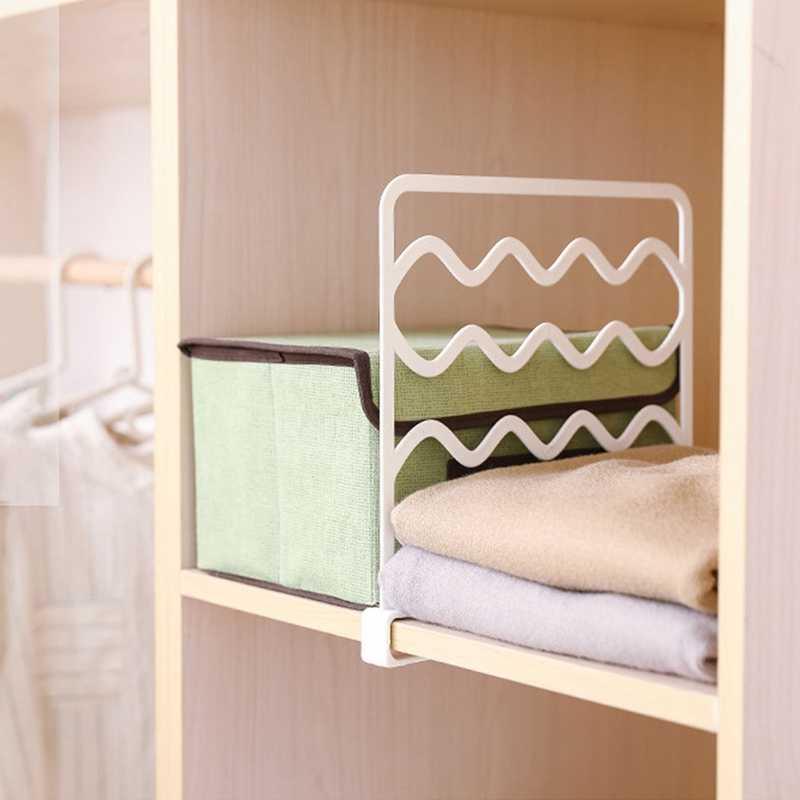 4 pièces étagère placard fil étagère diviseur gain de place garde-robe organisateur vêtements étagère de rangement tiroir organisateur chambre armoire Rac