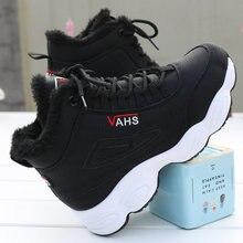 Tennis en cuir véritable pour femmes, chaussures chaudes en fourrure dhiver, baskets chaudes à semelle compensée, collection décontracté