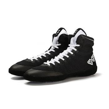 USHINE professional men low-top Sanda buty wysokie buty treningowe buty zapaśnicze buty jesienne buty buty bokserskie męskie tanie i dobre opinie Oddychające Masaż Pasuje prawda na wymiar weź swój normalny rozmiar Profesjonalne Dla dorosłych Wrestling buty Średnie (b m)