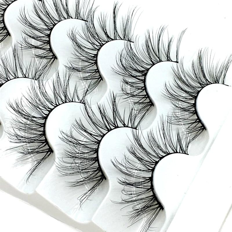 NEW 5 pairs Mink Eyelashes 3D False lashes Thick Crisscross Makeup Eyelash Extension Natural Volume Soft Fake Eye Lashes 1