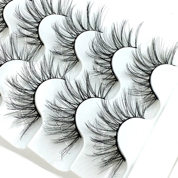 2021 NEW 2-5 pairs Mink Eyelashes 3D False lashes Thick Crisscross Makeup Eyelash Extension Natural Volume Soft Fake Eye Lashes 1