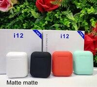 Матовые I12 TWS 5,0 всплывающие наушники беспроводные Bluetooth наушники оригинальные I12TWS наушники для Android всех смартфонов ушной аппарат