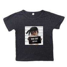 Bad dog bad cat cartoon printed Childrens t-shirts Kids  summer cotton childrens wea, Cartoon