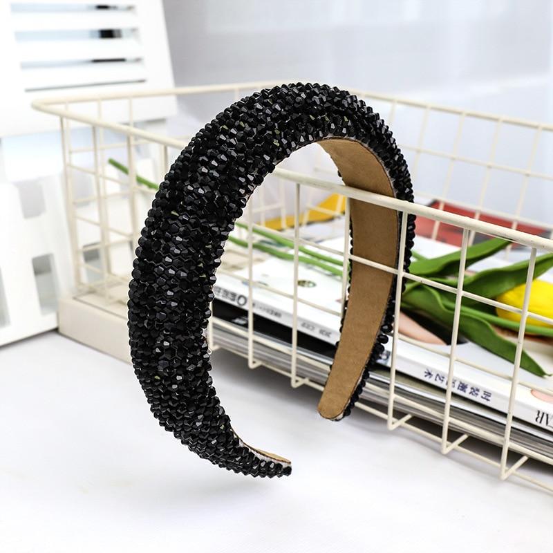 De Luxo Strass Hairband Hoop Cabelo Nupcial