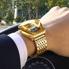 Wrist Watches Chronograph Man Clock Gold Military Top-Brand New Binbond Casual Fashion