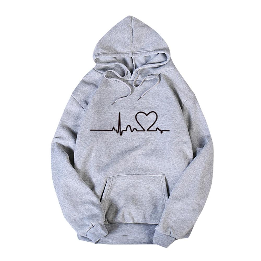 Valentine's Day Hoodies For Couples Autumn Spring Harajuku Heart Print Long Sleeve Hooded Sweatshirt Casual Pullover Tops Women 8