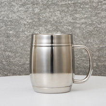 Coffee cup 304 stainless steel double layer with handle hand beer glass 750ml