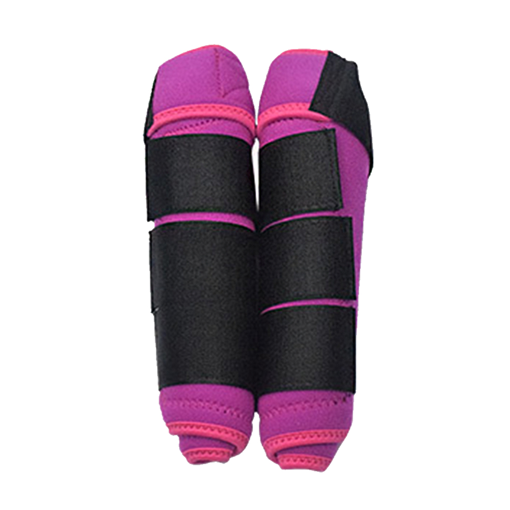 1 Pair Leg Guards Training Protective Gear Outdoor Magic Sticker High Elastic Cloth Shock Absorbing Horse Equestrian Washable