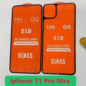 Image 3 - 2PCS Anteriore + Posteriore Full Colla di Vetro Temperato Per Il Iphone 11 11Pro Protezione Dello Schermo pellicola protettiva Per Il Iphone 11 pro 11Pro Max Glaas