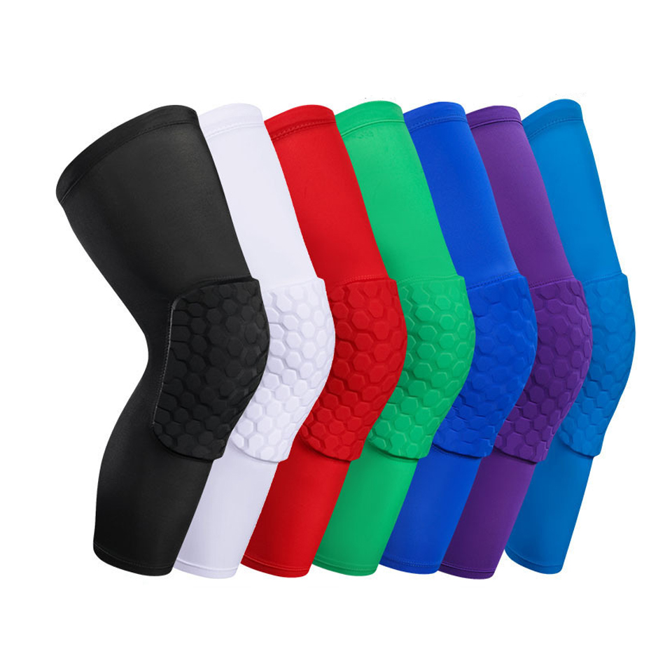 1PC Basketball sports Knee Pads Sleeve Honeycomb Brace Elastic Kneepad Protective Gear Patella Foam Support Volleyball Support