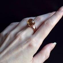 Королевские хрустальные кольца цвета шампань ювелирные изделия