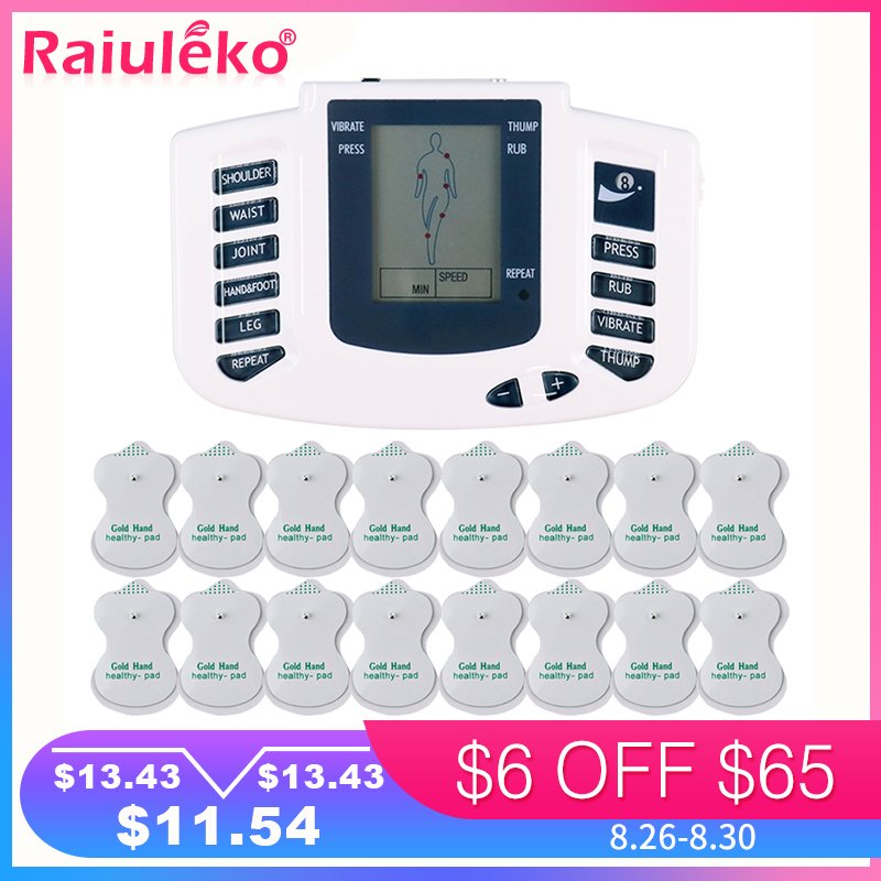 Acupuncture Therapy-Machine Tens Body-Massager 16pcs-Pads Stimulator Health-Care Electrical