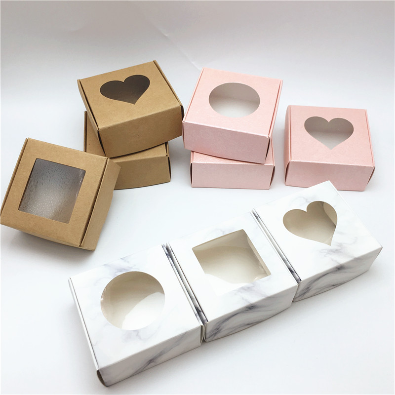 Wedding Handmade 100Pcs Gift Windows Soap Paper  Candy Packaging Boxes Aircraft PVC Box With Transparent Cookie Party Chocolate