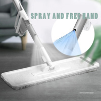 2019 New Mop With Sprayer Floor Mop With Spin Free Hand Flat Mop Rag For Lazy Limpieza Hogar Pad 360° Automatic Spray Smart Mops