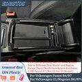 Подлокотник для V W Volkswagen CC Passat B6 B7 2006-2016, центральный ящик для хранения, подлокотник, держатель перчаток, пластина, автомобильный органайзер ...