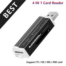 High quality Micro Memory Card Multi All in 1 Reader Adapter for Micro SD USB 2.0 TF M2 MMC MS PRO DUO Card Reader(China)