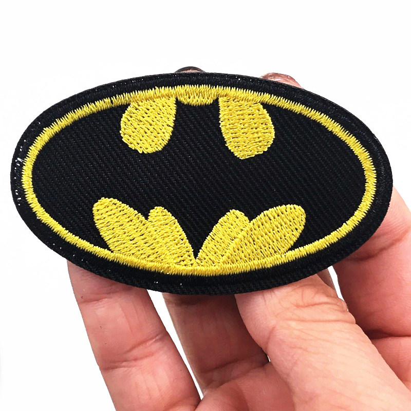 HIGH QUALITY EMBROIDERY SEW-ON PATCH BATMAN BATGIRL CHOOSE STYLE /& QUANTITY