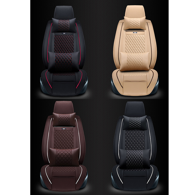 WLMWL Universele Lederen Auto seat cover voor Peugeot 206 307 407 207 2008 3008 508 208 308 406 301 alle modellen auto accessorie - 3