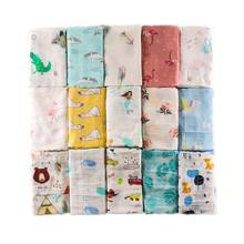 Muslin Baby Swaddle Blanket New Newborn Infant Stroller Cover Baby Photography Wrap Boys Unicorn Blankets Kids Bedding Play Mat(China)