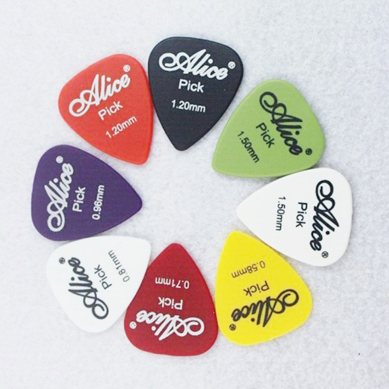 24/30/40/50pcs Guitar Picks 1 Box Case Alice Acoustic Electric Bass Plectrum Mediator Musical Instrument Thickness Mix 0.58-1.5