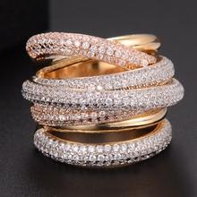 GODKI Famous Design Luxury Statement Stackable Ring For Women Wedding Cubic Zircon Engagement Dubai Punk Bridal Top Finger Rings