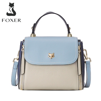 FOXER Women's Crossbody Handbag Fashion Shoulder Bags Large Capacity Totes Lady Medium Messenger Bag Female Luxury Woman Purse foxer brands leather women handbags luxury totes new design women bag fashion lady messenger bags shoulder bag for female