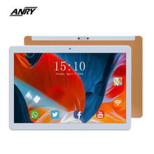 ANRY Tablet 10.1 Inch Android 7.0 3G Phone Call GPS Wifi Bluetooth Tab Pc Quad Core 1 GB RAM 16GB ROM Gold/Black/Silver For Kids delion 1008 10 1 mtk8382 quad core android 4 4 3g tablet pc w 1gb ram 16gb rom hdmi otg