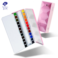 Officall Paul Rubens Watercolor Paint Set 24 Colors Solid Sparkling Giftbox for Artists and Hobbyists