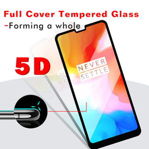 Image 2 - JGKK 5D Curved Edge Full Cover Tempered Glass For Oneplus 7 7T 6 5T 5 Oneplus6 Protective Screen Protector For 1+6 One Plus 6T