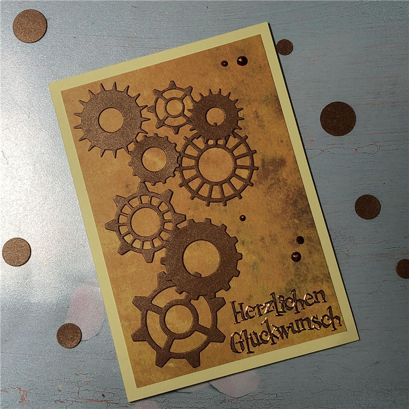 DiyArts 9 Style Gear Dies Metal Cutting for Card Making Scrapbooking Embossing Stencil Craft Christmas Decor