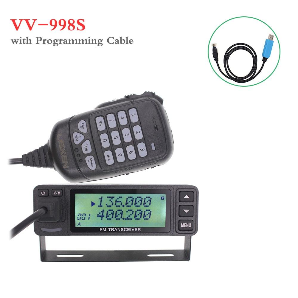 2019 LEIXEN VV-998S VV-998 Mini 25W Dual Band VHF UHF 144/430MHz Mobile Transceive Amateur Ham Radio Car Radio