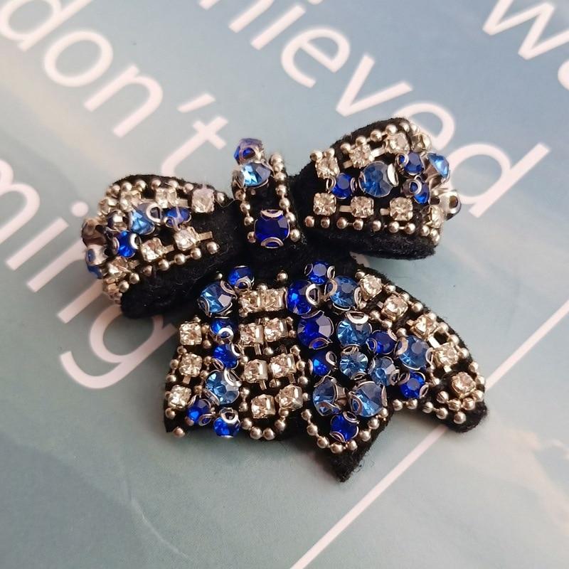 Delicate Women Rhinestone 1pcs Luxury Patch Shape Metal Pins Lapel Pin Fashion Jewelry