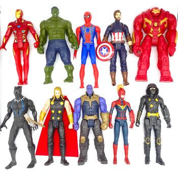30cm Marvel Avengers zabawki Thanos Hulk Buster Spiderman Iron Man kapitan ameryka Thor Wolverine czarna pantera figurka lalki tanie i dobre opinie Disney Model CN (pochodzenie) Unisex No Fire Wersja zremasterowana STARSZE DZIECI 5-7 lat 8-11 lat 12-15 lat Peryferyjne