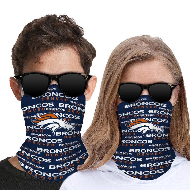 2 Pcs Face Shield Bandanas Neck Gaiter Face Scarf 3D Print American Football Team