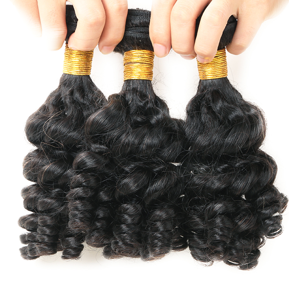 bouncy  curly human hair bundles 7