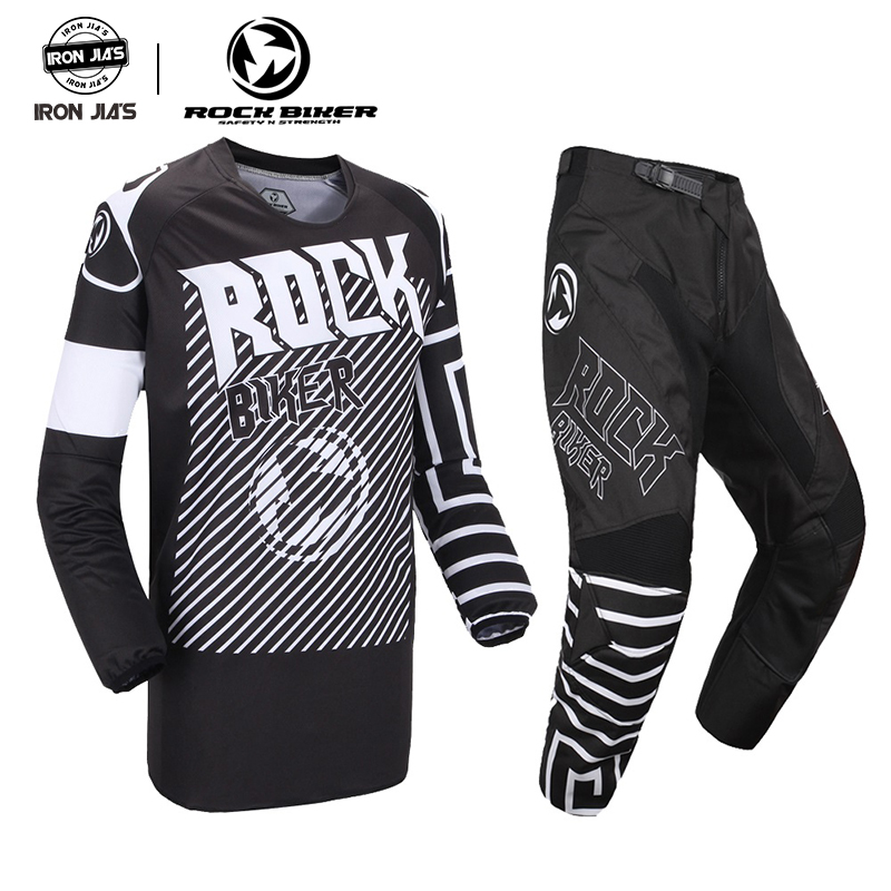 ROCK BIKER 2019 nouvelle vente 360 Motocross Jersey et pantalon ATV BMX DH MX Moto costume Dirt Bike Combo cyclisme Moto vêtements ensembles