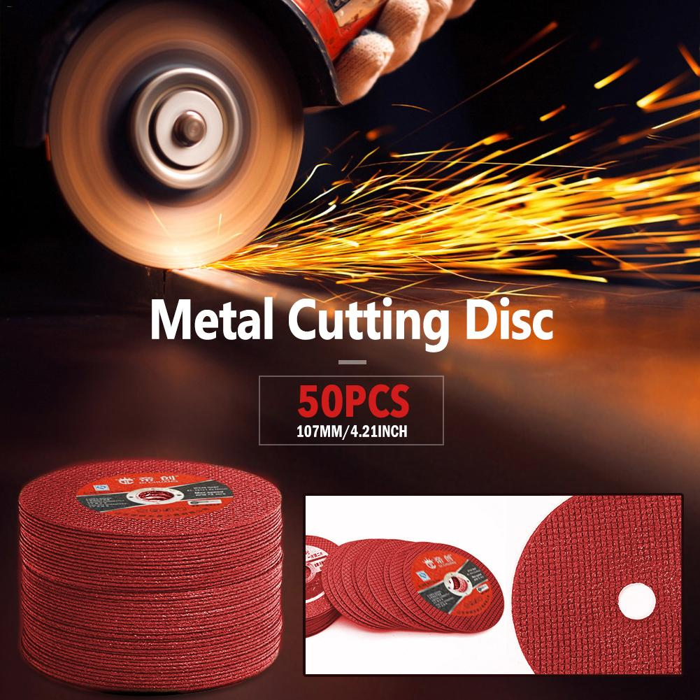 50PCS Cutting Discs 100 Angle Grinder Stainless Steel Metal Grinding Wheel Resin Double Mesh Ultra-Thin Polishing Piece #35