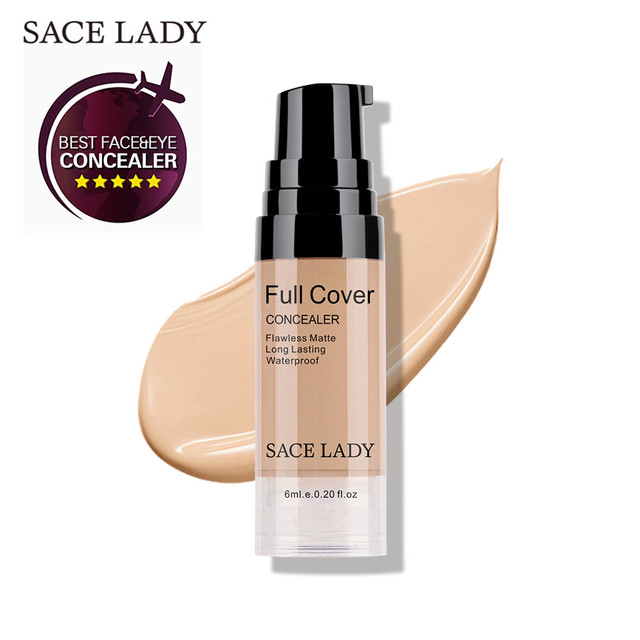 SACE LADY Full Cover 8 Colors Liquid Concealer Makeup 6ml Eye Dark Circles Cream Face Corrector Waterproof Make Up Base Cosmetic 5