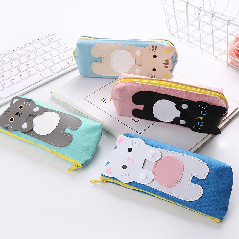 1pcs Kawaii Cartoon Pencil Bag Student Pencil Case Creative Stationery For Kids Gift Pencil Bag School Supplies in Pencil Cases from Office School Supplies