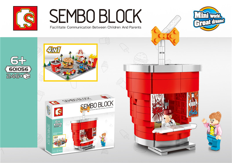 SD601055 58 MINI Straße Serie eis/hamburger/shop Bausteine Ziegel Kinder Pädagogisches Spielzeug Modell Geschenke-in Sperren aus Spielzeug und Hobbys bei  Gruppe 2
