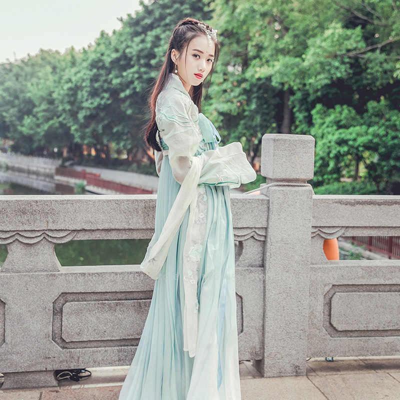 Cổ Đại Trung Quốc Truyền Thống Hanfu Cổ Trang Phục Hóa Trang Nhà Đường Phù Hợp Với Phụ Nữ Công Chúa ĐẦM DỰ TIỆC Múa Dân Gian Lễ Hội Trang Phục