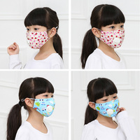 Baby Child Face Mask N95 Vertical Folding Non Woven Fabric Mask With Breath Valve Anti Dust Anti-Bacterial Mask PM2.5 Respirator 4