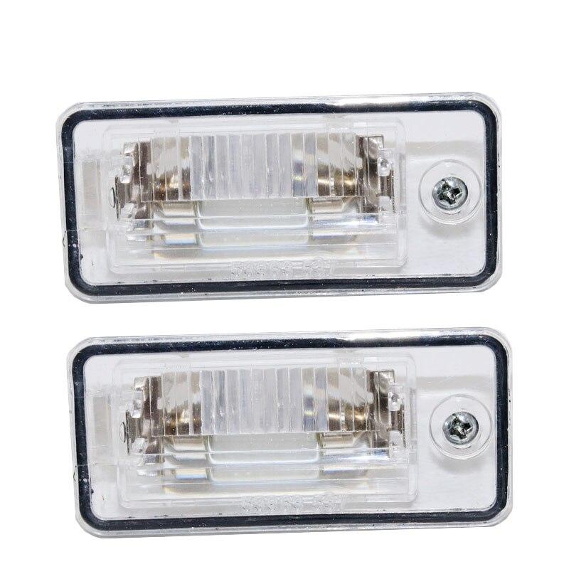 2 шт. левый + правый номерного знака светильник лампа объектив 8E0807430A 8E0807430B для Audi A3 A4 S4 B6 B7 A6/S6 Q7 2007-2009 RS4 2006-2008