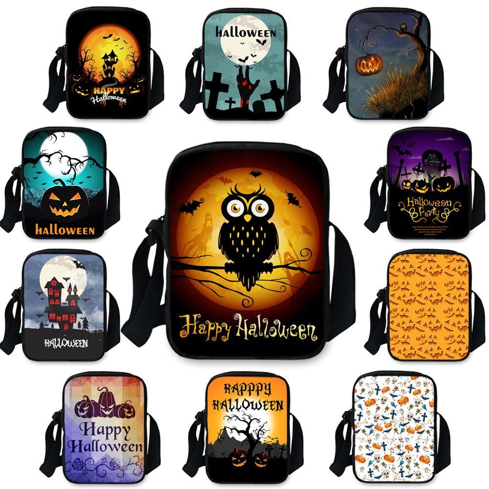 Bag Pumpkin-Bag Halloween Crossbody-Bag Square Single-Shoulder-Bags Small Fashion Dropship