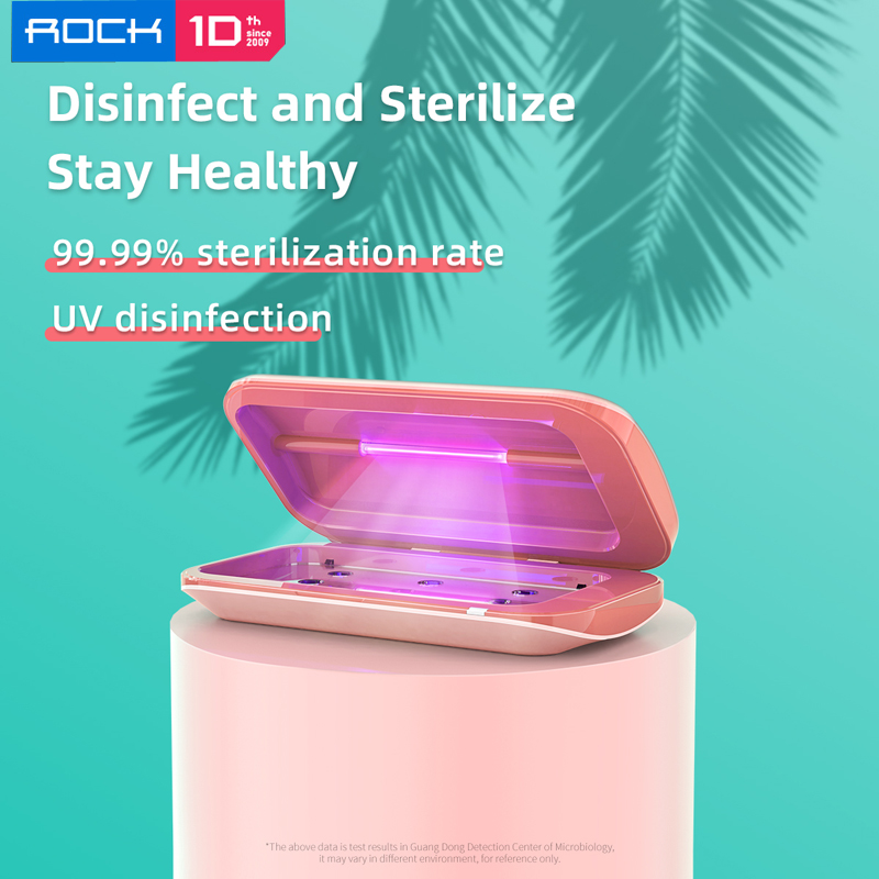 ROCK Mobile Phone Sterilizer Phones Cleaner Box Quick UV Disinfection Sterilization Eliminate Germs Kill Germs 99.99% 254nm