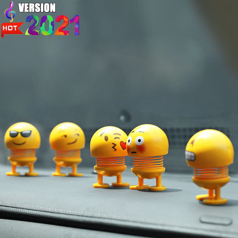 Car funny shaking Nod doll Cute face cartoon head toys Decoration atuo car Dashboard robot lovely car toy decoration doll toy